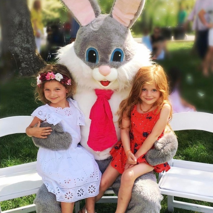 <h4>Lily Aldridge's little bunny</h4>
