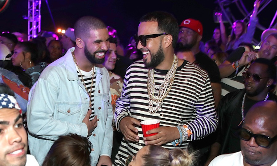 When he wasn't making a surprise appearance during Future's set on Saturday, Drake made the party rounds, dropping by The Levi's Brand Presents NEON CARNIVAL with French Montana. 