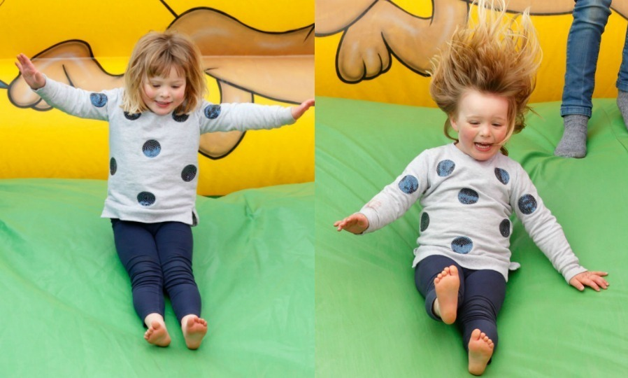 Despite her mom Zara Tindall being looked at by medics after falling from her horse, Mia was having a blast at the Burnham Market Horse Trials in April 2017. The three-year-old couldn't contain her excitement while jumping in the bouncy house and slide.