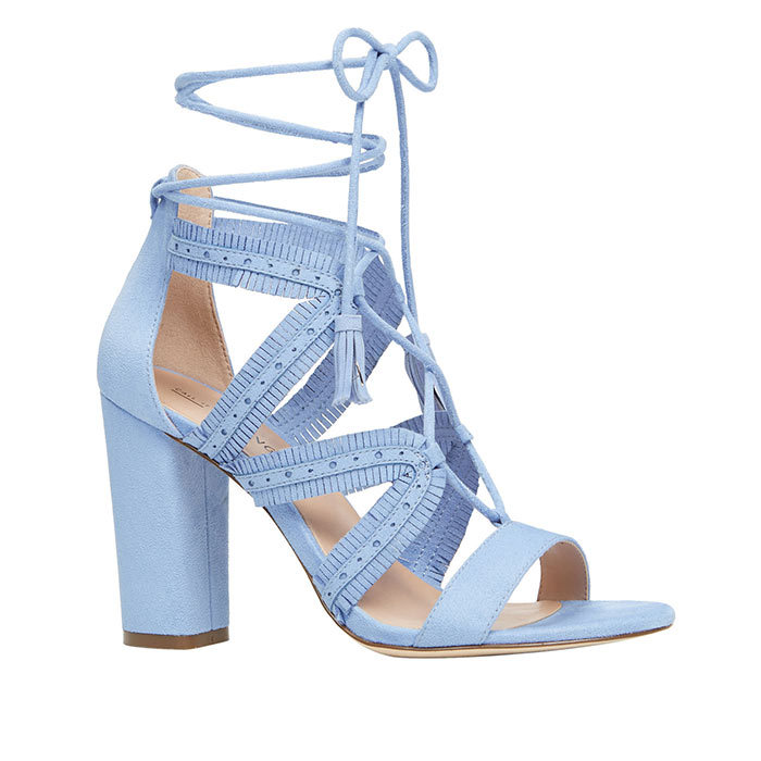 <p>Veriri Heels in Light Blue, $60, <em>callitspring.com</em></p>