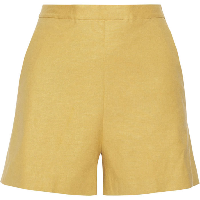 <p>Theory Tarrytown Stretch-Linen Shorts, $250, <em>net-a-porter.com </em></p>