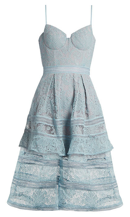 <p>Paisley Lace Midi Dress, $510, <em>self-portrait-studio.com</em></p>