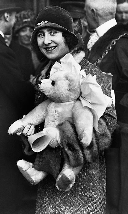 <h3>A TEDDY BEAR</h3><p>At five months old, the future Queen of England was already being treated to thoughtful gifts from monarchists. In October 1926, the Queen Mother was out in London and given a teddy bear to bring home to her young daughter. It was made by J.K. Farnell & Co., makers of Britain's first teddy bear in 1906.</p><p>Photo: © Getty Images</p>