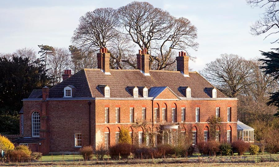 Anmer Hall, home to Prince William, Kate, Prince George and Princess Charlotte.