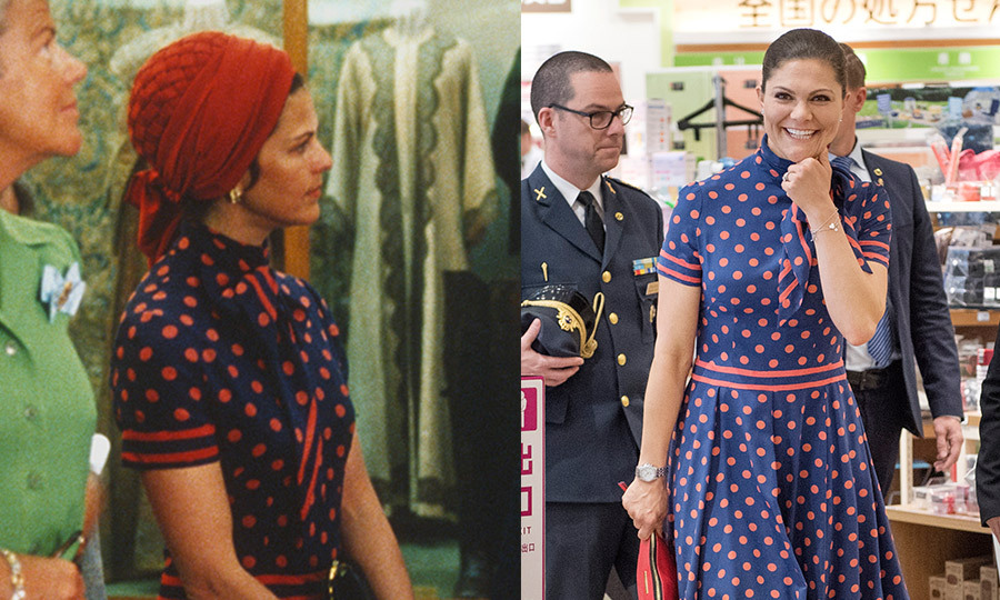 Image result for queen silvia recycles dress