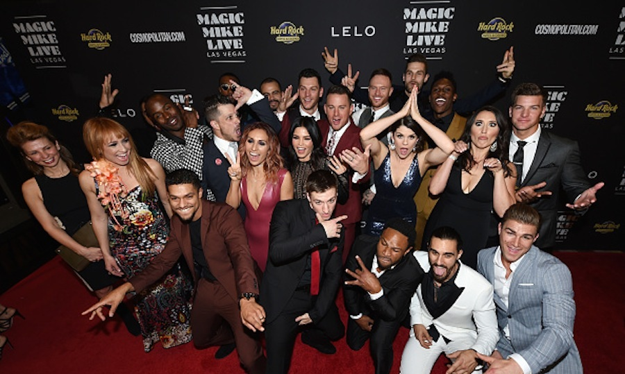 <h4>Apr. 21:</h4> Talk about a magical night out! Channing Tatum, Jenna Dewan Tatum and the cast and creative team of <em>Magic Like Live Las Vegas</em> celebrated the show's grand opening at the Hard Rock Hotel & Casino. <p>Photo: Ethan Miller/Getty Images