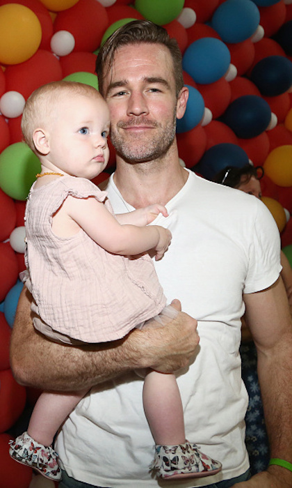 <h4>Apr. 23:</h4> James Van Der Beek and his adorable daughter Emilia made a perfect pair at Safe Kids Day 2017  in Culver City, California.