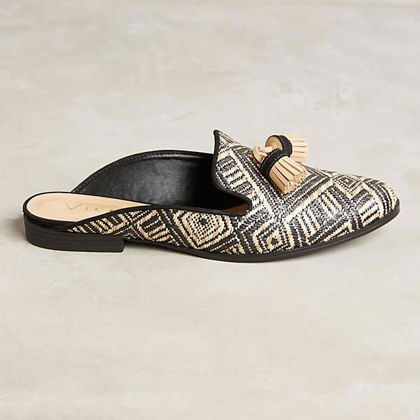 "<p>Vincenza Raffia Tassel Slides, $170, <a href=""https://www.anthropologie.com/shop/vicenza-raffia-tassel-slides?category=SEARCHRESULTS&color=009"" target=""_blank"">Anthropologie</a>.</p>"