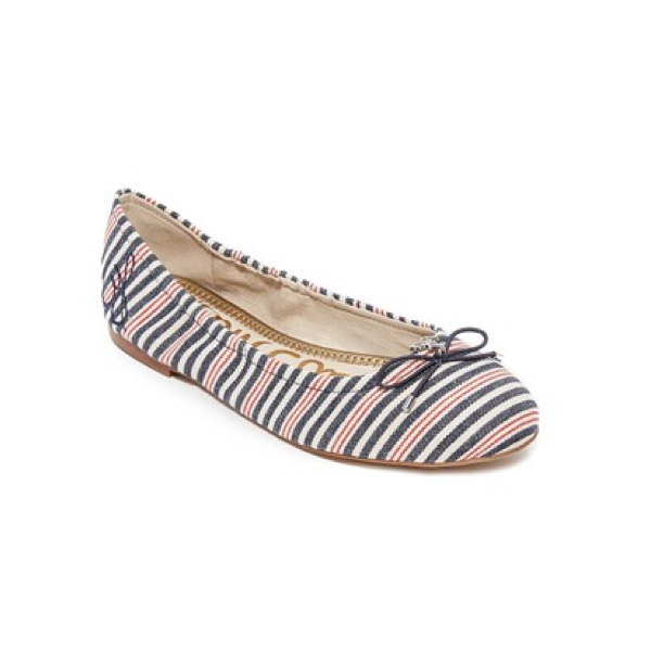 "<p>Sam Edelman Felicia Striped Flats, $135, <a href=""https://www.shopbop.com/felicia-striped-flats-sam-edelman/vp/v=1/1593410070.htm?folderID=2534374302112436&fm=other-shopbysize-viewall&os=false&colorId=17689"" target=""_blank"">Shopbop</a>.</p>"