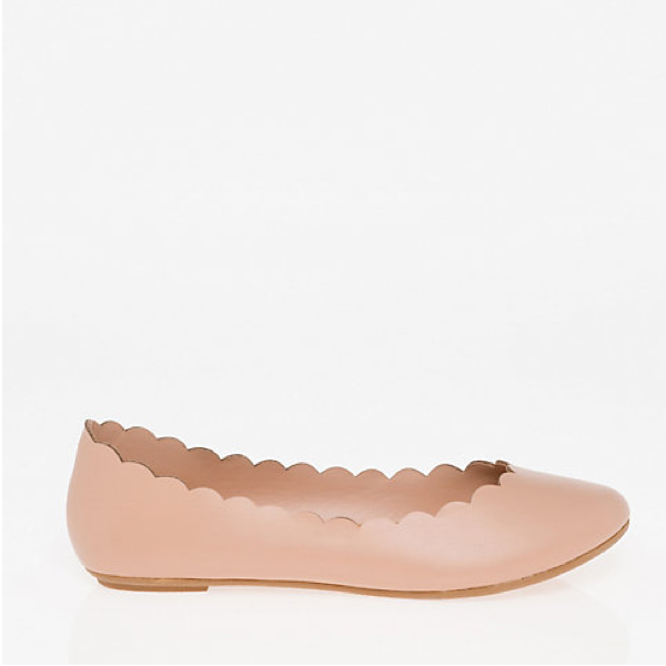 "<p>Ballerina Flat, $40, <a href=""https://www.lechateau.com/style/jump/Leather-Like+Ballerina+Flat/productDetail/All+Shoes/353671/cat400161?selectedColor="" target=""_blank"">Le Chateau</a>.</p>"