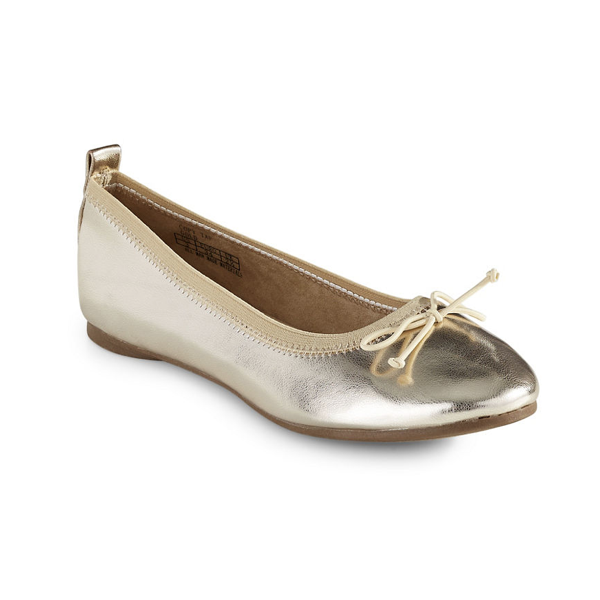 "<p>Kenneth Cole Reaction Metallic Ballet Flats, $54, <a href=""http://www.thebay.com/webapp/wcs/stores/servlet/en/thebay/shoes/metallic-ballet-flats-0600089147510--24"" target=""_blank"">Hudson's Bay</a>.</p>"