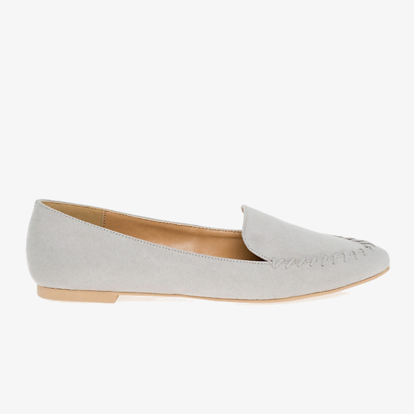 "<p>Pointy Toe Loafer, $50, <a href=""https://www.lechateau.com/style/jump/Suede-Like+Pointy+Toe+Loafer/productDetail/All+Shoes/353430/catsfr51005"" target=""_blank"">Le Chateau</a>.</p>"