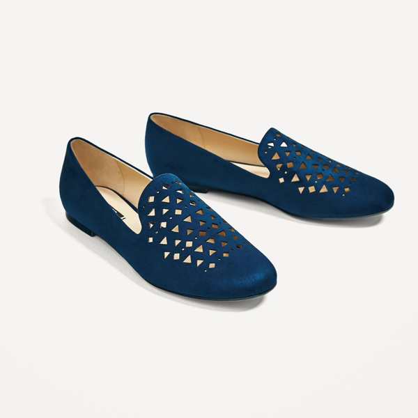 "<p>Flat Shoes With Cutwork Detail, $36, <a href=""https://www.zara.com/ca/en/woman/shoes/view-all/flat-shoes-with-cutwork-detail-c719531p4121501.html"" target=""_blank"">Zara</a>.</p>"