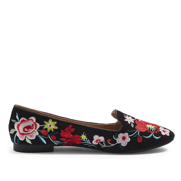 "<p>Topshop Saffron Embroidered Slippers, $50, <a href=""http://www.thebay.com/webapp/wcs/stores/servlet/en/thebay/saffron-embroidered-slippers-0600089155198--24"" target=""_blank"">Hudson's Bay</a>.</p>"