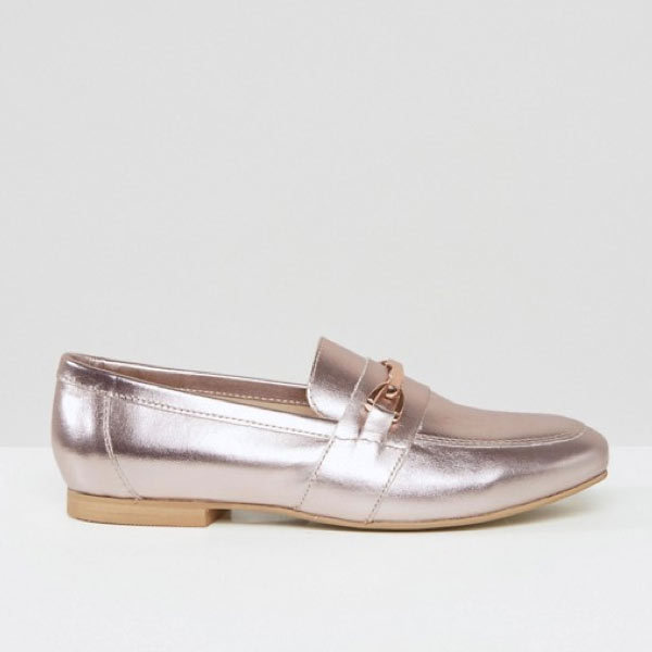 "<p>Asos Movement Leather Loafers, $70, <a href=""http://us.asos.com/asos/asos-movement-leather-loafers/prd/7200079?iid=7200079&clr=Nudemetallic&SearchQuery=Asos%20Movement%20Leather%20Loafers&pgesize=4&pge=0&totalstyles=4&gridsize=3&gridrow=1&gridcolumn=2"" target=""_blank"">ASOS</a>.</p>"