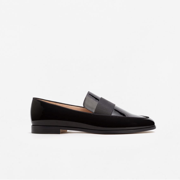 "<p>Patent loafers, $60, <a href=""http://shop.mango.com/CA/p0/woman/accessories/shoes/moccasins/patent-loafers?id=83010129_99&amp;n=1&amp;s=search"" target=""_blank"">Mango</a>.</p>"