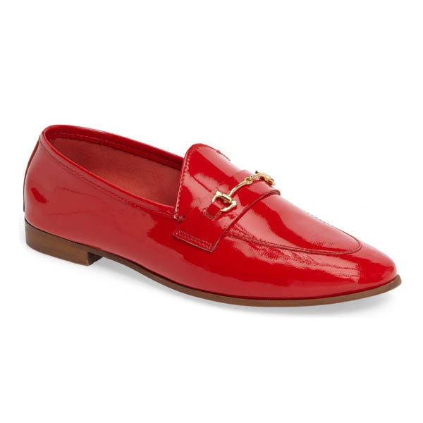 "<p>Topshop Karpenter2 Patent Leather Loafers, $90, <a href=""http://www.thebay.com/webapp/wcs/stores/servlet/en/thebay/karpenter2-patent-leather-loafers-0600089147297--24"" target=""_blank"">Hudson's Bay</a>.</p>"