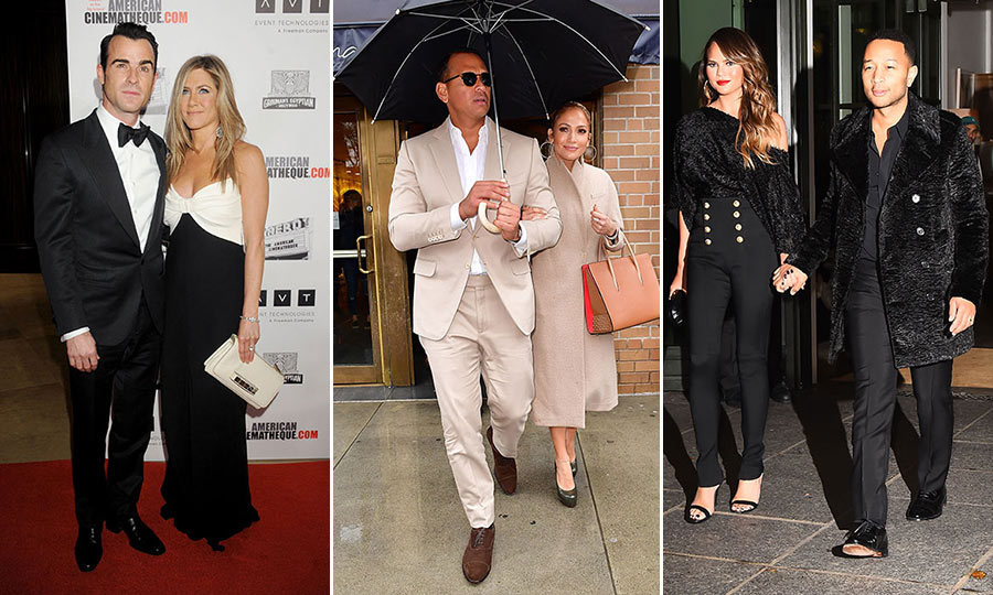 Matchy-matchy never looked so good! From Jennifer Aniston and Justin Theroux to Chrissy Teigen and John Legend, these A-list duos, past and present, are kings and queens of couple coordination.