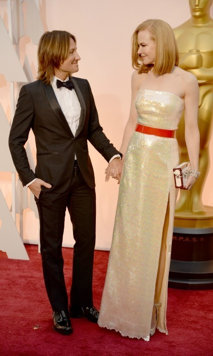 Keith had his golden girl by his side at the 2015 Academy Awards. 