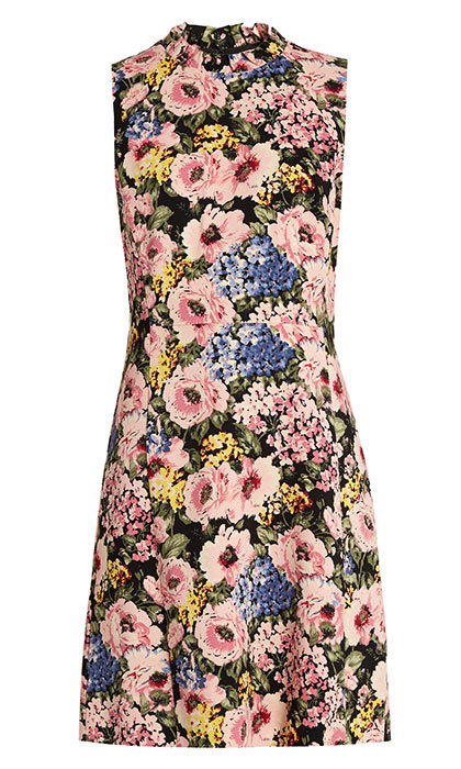 <p>Rebecca Taylor Floral-Print Sleeveless Crepe Dress, $600, <em>matchesfashion.com</em></p>