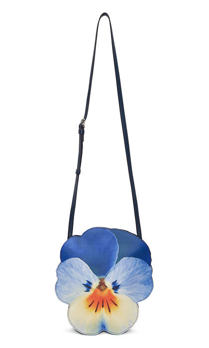 <p>Christopher Kane Blue Pansy Shoulder Bag, $1,715 , <em>ssense.com</em></p>
