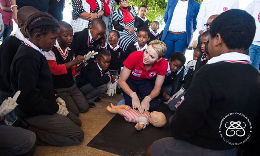 Prince Albert's wife taught children first aid and CPR.