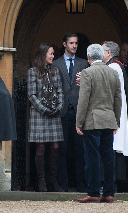 Pippa Middleton and James Matthews pictured outside the church they will marry. The ceremony will be officiated by Rev. Nick Wynne-Jones, resident priest at St Mark's.