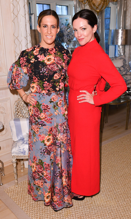 <h4>Suzanne Rogers Hosts Dinner with Emilia Wickstead</h4><p>Vanessa Mulroney and Jane Hanrahan</p><p>Photo: &copy; George Pimentel Photography</p>