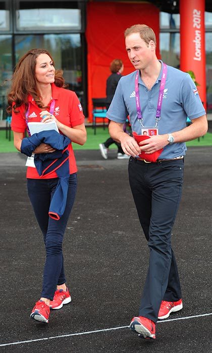 These two love watching sports just as much as love playing them. Will and Kate slipped into their active wear to watch cycling at the London 2012 Paralympic Games.