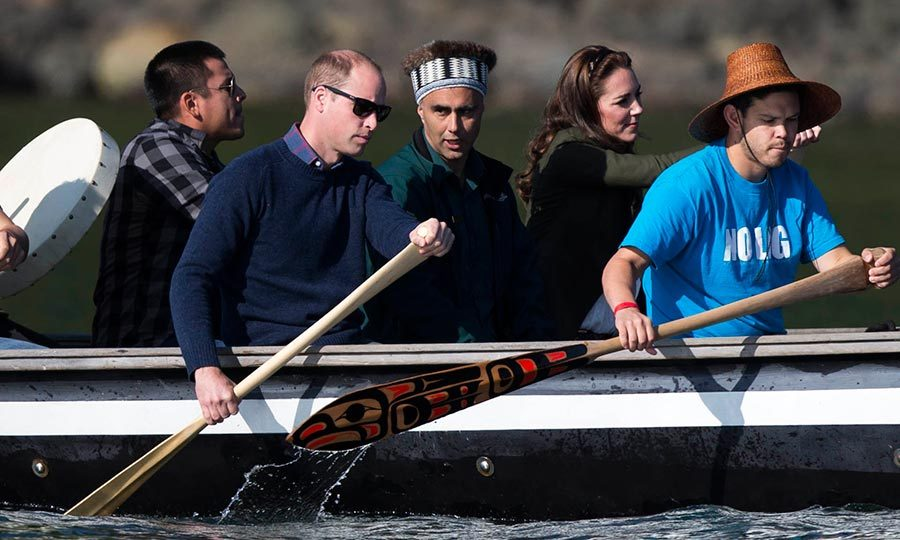 Will and Kate rowed their way to the shores of Haida Gwaii during their tour of Canada in 2016. 