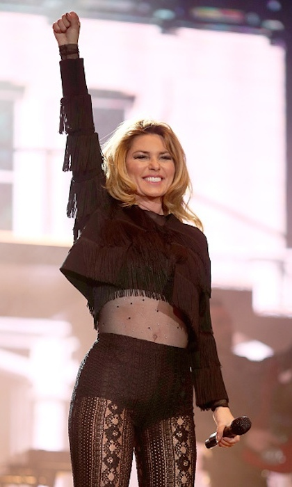 Shania headlined night two of the country music extravaganza.