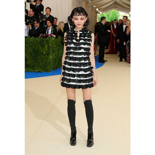 Rila Fukushima in Louis Vuitton
