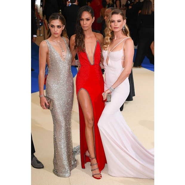 Chloe Bennet, Joan Smalls and Behati Prinsloo in Topshop