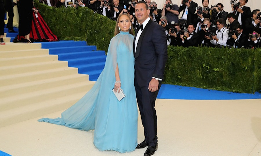 Jennifer Lopez  in Valentino and Alex Rodriguez