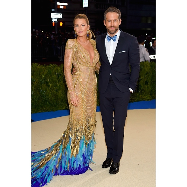Blake Lively Atelier Versace and Ryan Reynolds in Versace