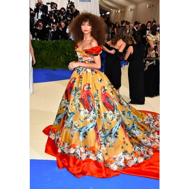 Zendaya in Dolce & Gabbana Alta Moda