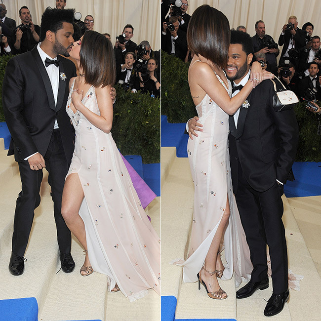 Selena Gomez and The Weeknd made their romance red carpet official as they stepped out together at the 2017 Met Gala. 