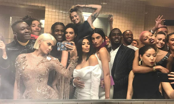 Kylie Jenner chose to ignore Met Gala rules banning selfies, and posted a star-studded bathroom photo – much to the delight of her Instagram followers. The image, which rivals Ellen DeGeneres' famous Oscars picture, features the likes of Kendall Jenner, Kim Kardashian, Lily Aldridge, A$AP Rocky, Puff Daddy, Brie Larson and Paris Jackson, and has racked up more than 1.8 million likes.