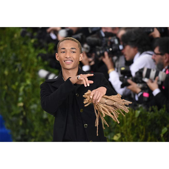 Jaden Smith's highly-unusual red carpet accessory certainly got people talking. The 18-year-old, who recently cut off his dreadlocks for a film role, decided to bring his own hair along to the Met Gala, as a replacement for his sister Willow! 