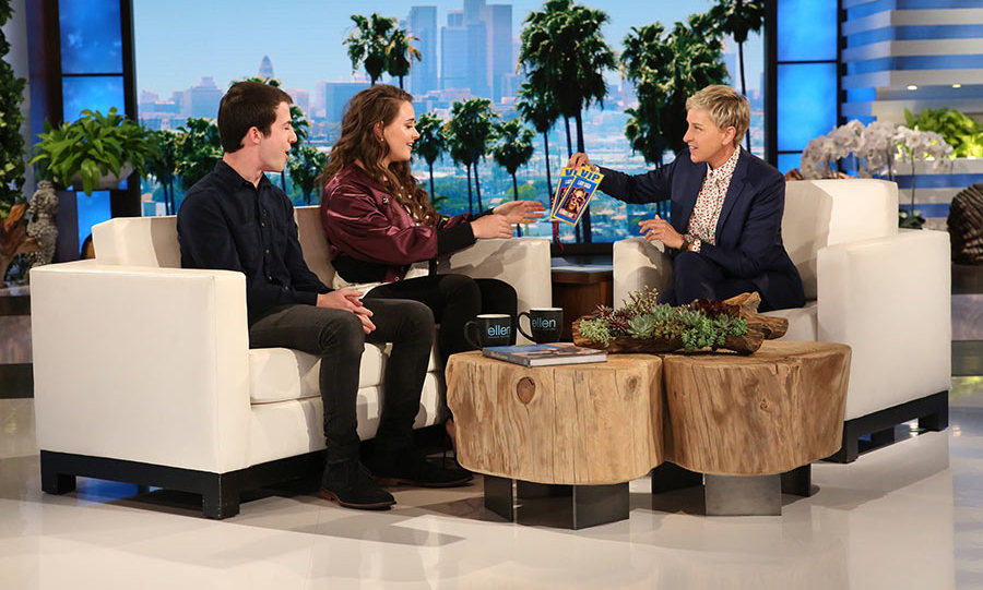 <em>13 Reasons Why</em> stars Katherine Langford and Dylan Minnette address show's controversy.