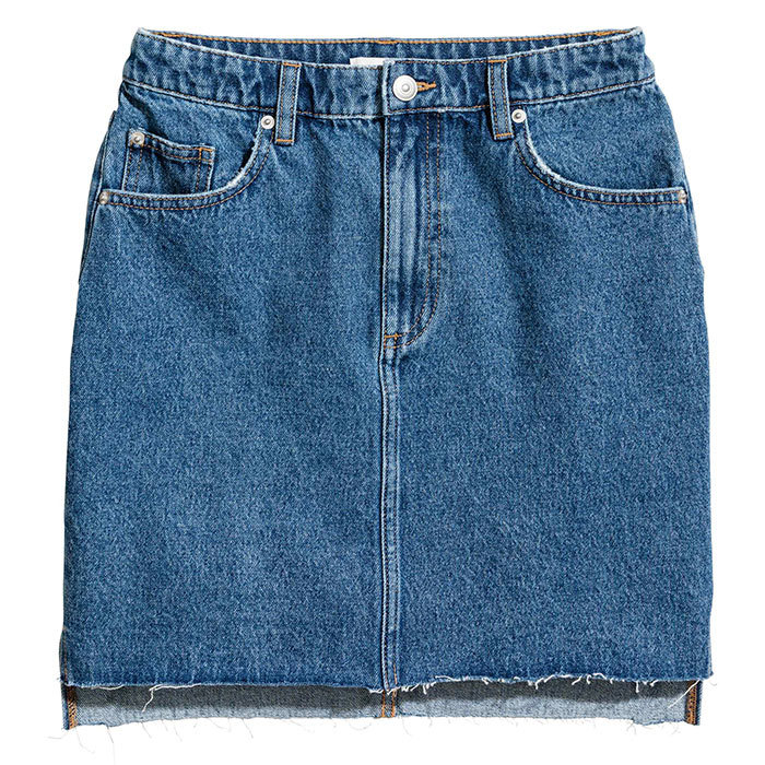<p>Short Denim Skirt, $35, <em>hm.com</em></p>
