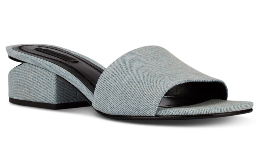<p>Alexander Wang Lou Denim Slides, $575, <em>holtrenfrew.com</em></p>