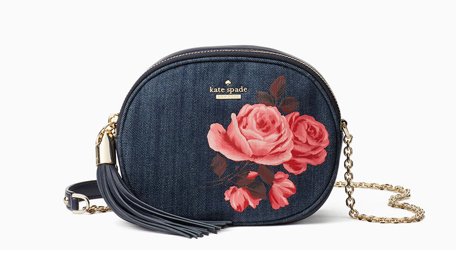 <p>Emerson Place Rose Denim Tinley, $248, <em>katespade.com</em></p>