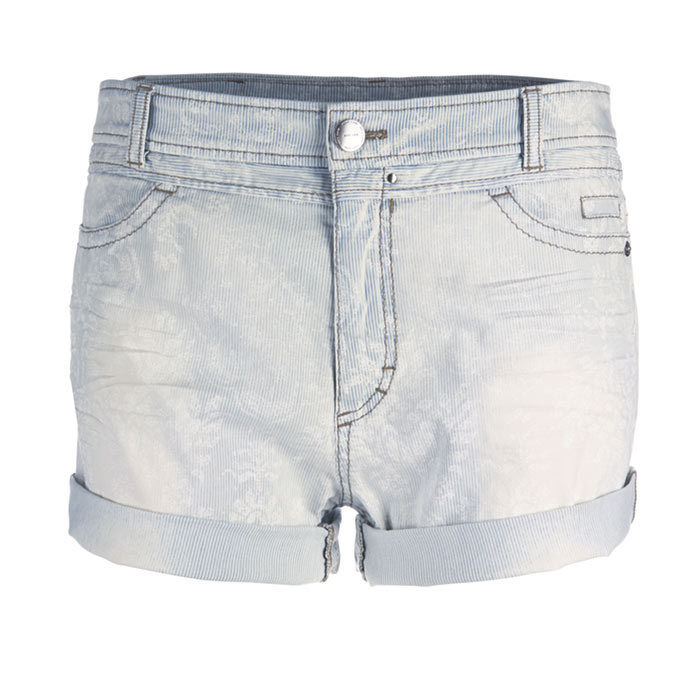 <p>Denim Shorts, $270, <em>marc-cain.com </em></p>