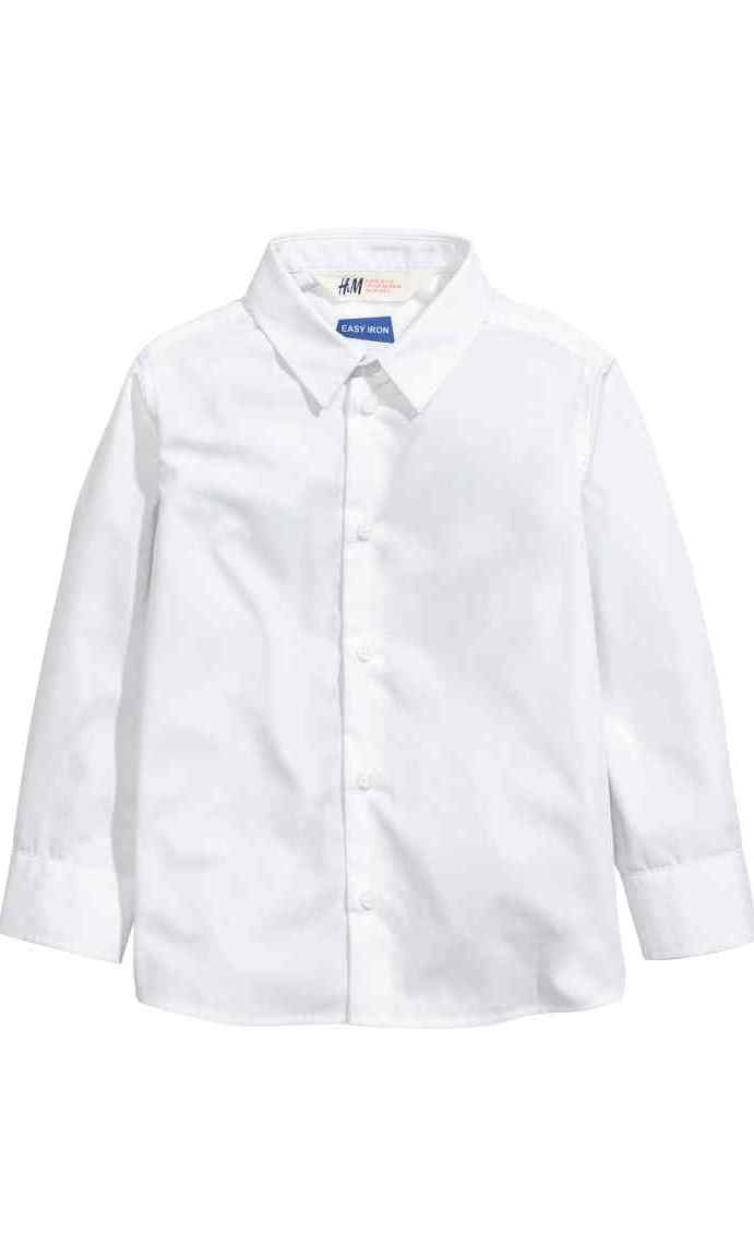 Easy Iron Shirt in White, $15, hm.com