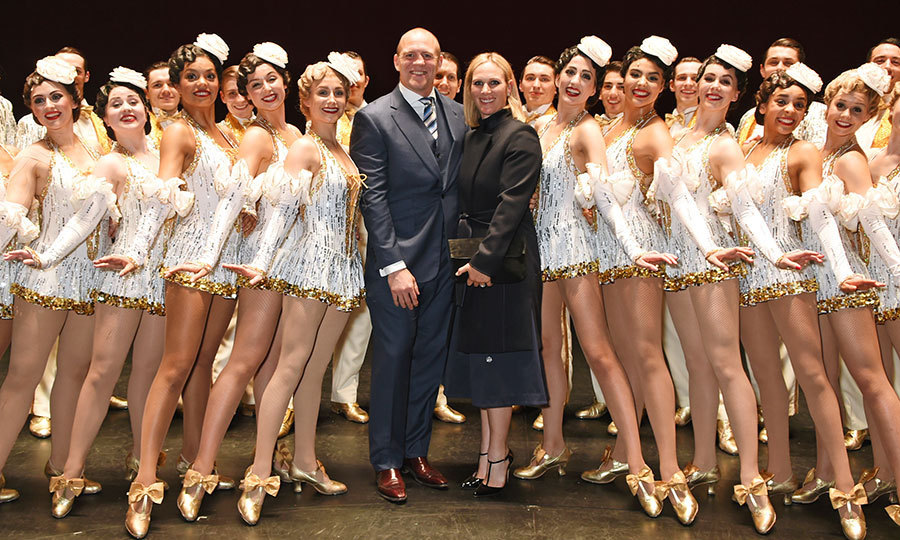 The Queen's granddaughter Zara Tindall and husband Mike Tindall posed up a storm with cast members of the West End production of <em>42nd Street. </em>