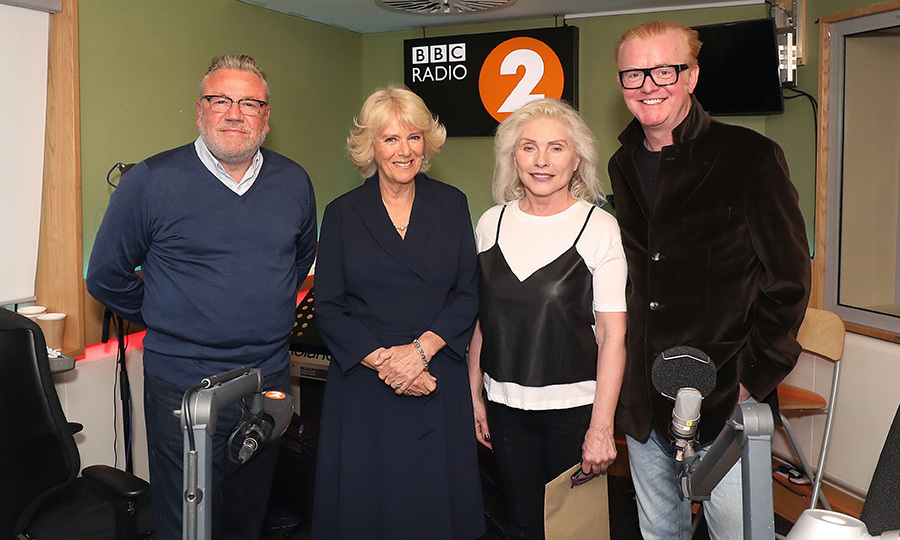 The Duchess of Cornwall and music legend Debbie Harry (along with British stars Ray Winstone and Chris Evans) joined forces to judge this year's '500 Word' creative writing competition at the BBC Radio 2 Studios. 
