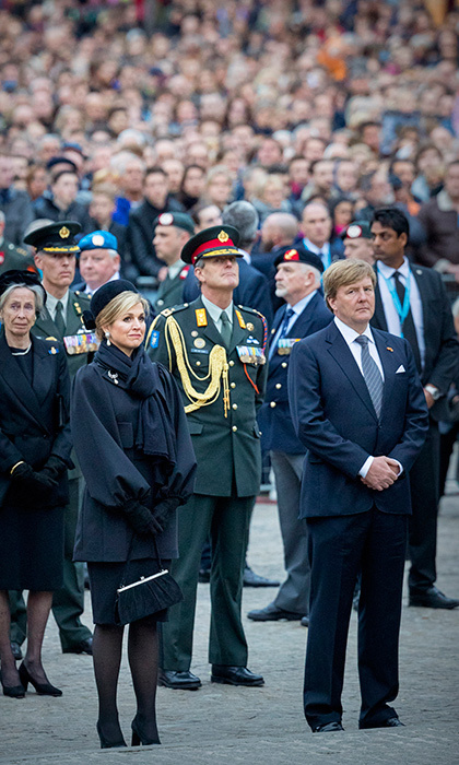 A solemn King Willem-Alexander and Queen Maxima of the Netherlands attended the National Remembrance ceremony in Amsterdam on May 4. The annual memorial honours both Dutch civilians and military members who have died in wars or peacekeeping missions.