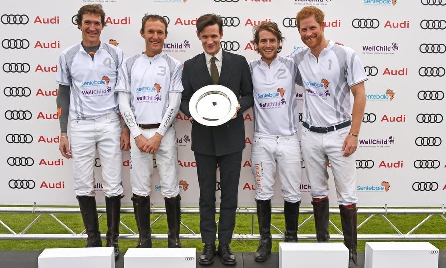 While Prince Harry looked thrilled to receive a prize (from actor Matt Smith) on Day One of Audi Polo Challenge, the real reason for his beaming smile could be found on the sidelines. 