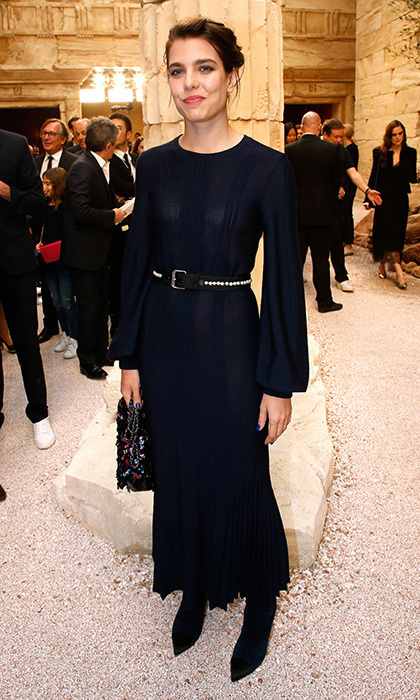 May 3: Princess Grace's granddaughter Charlotte Casiraghi showed she inherited the film star's glamorous style at the the Chanel Cruise 2017/2018 Collection Show at Grand Palais in Paris.
